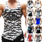 Men Tank Top T-Shirt Muscle Camo Camouflage Tee Bodybuilding Sport Fitness Gym T