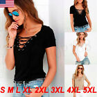Casual Womens Loose Pullover T Shirt Short Sleeve Cotton Tops Shirt Blouse Lot