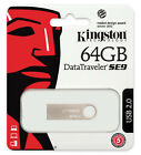 Kingston 8GB 16GB 32GB 64GB DataTraveler SE9 USB 2.0 Flash Pen Drive Lot DTSE9H