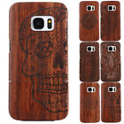 100% Genuine Wooden Wood Bamboo Slim Hard Armor Back Case For Samsung Galaxy S7
