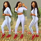 Women 2pcs Athletic Tracksuit Sweats Sweatshirt Pants Sets Sportwear Casual Suit