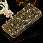 Luxury Bling Crystal Diamond Wallet Flip Leather Case Cover For iPhone 6 6s Plus