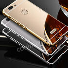 Luxury Aluminium Metal Bumper Case + Mirror Cover For Huawei Honor Note 8 V8 7
