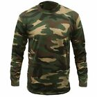 Men's Game Camouflage Army Camo Woodland Long Sleeve T Shirt Top Hunting