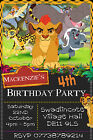Personalised Kion Lion Guard / King Birthday Party Invites inc envelopes LG3