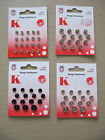 Snap Fasteners Pop Studs Black / Silver assorted Silver size 1 000 dolls clothes