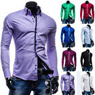 NEW MENS LUXURY CASUAL STYLISH SLIM FIT LONG SLEEVE CASUAL DRESS SHIRT UNIQUE