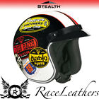 STEALTH HD320 OLD SCHOOL COLOUR OPEN FACE MOTORCYCLE SCOOTER CRUISER CITY HELMET