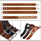 Mens faux Leather Army Military Watch Strap Band 18/20/22/24mm Cool