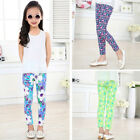 Kids Baby Girls Leggings Pants Flower Floral Printed Elastic Long Trousers 2 14Y
