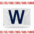 "Wholesale 1-100X Chicago Cubs ""W"" MLB Banner Flag 3' x 5' (36"" x 60"") ~ NEW"