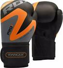 RDX Leather Boxing Gloves Muay Thai Punching Sparring MMA Training Kickboxing O