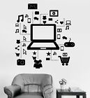 online laptop purchase - Vinyl Wall Decal Laptop Computer Online Social Networks Stickers (315ig)