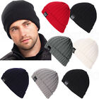 Unisex Women Mens Knitted Beanie Hat Winter Warm Crochet Ski Slouchy Caps
