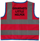 Baby/Chilren/Kids Hi Vis Safety Jacket/Vest Grandads Little Helper Size 0-8Years
