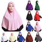 10Color Muslimisch Kopftuch Bequem Hijab Islamisches Lang Hijab-schal Kappe