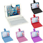 Case Leather Cover With Built-in Bluetooth Wireless Keyboard for iPad Mini 2/3/4