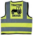 Baby/Chilren/Kids Hi Vis Safety Jacket/Vest Tractor Driver Size 0-9Years