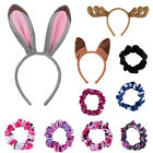 Girls Elastic Hair Scrunchies Headband Antlers Rabbit Fox Headband Christmas