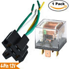 Auto Relay 12V 60A 60 AMP Wired Socket 4 PIN SPST Relays Waterproof Switcher USA