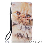 Stylish patterned PU leather case wallet cover with strap for iphone samsung
