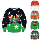 Unisex Women Mens Christmas Jumpers Xmas Sweater Novelty Knitted Pullovers Chic