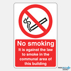 No Smoking In The Communal Area Of This Building Sign