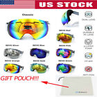Professional Snowboard Ski Goggles Anti Fog UV Double Lens Layers Foam w/POUCH