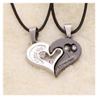 Set Of 2Pcs Lover Couple Necklace Men Women I Love You Heart Shape Pendant Chain