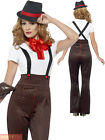 Ladies Glam Gangster Costume Adults 1920s Moll Fancy Dress Womens 20s Outfit