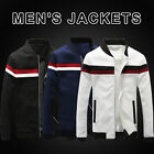 New Popular Men's Stylish Slim Color Block Coat Casual Jacket Sports Outerwear