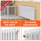 Traditional Triple 3 Column Radiators Bathroom Horizontal Central Heating 600mm