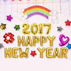 Foil Balloon New Year's Eve Party Decor 2017 Festival HAPPY NEW YEAR Letter Set