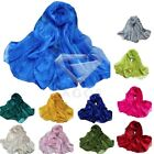 1pcs 11 Colours Women Double Layer Oganza Soft Wrap Scarf Shawl Solid 180*50cm