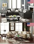 2 Colors Sectional Sofa Made In USA Transitional Fashion Living Room W/Pillows