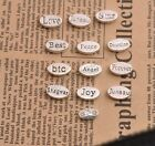 Antique Silver Tibetan  Oval Spacer Beads Jewelry Findings 13X3MM