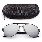 Polarized Aviator Sunglasses for Women Men Case Vintage Sports Driving Mirrored