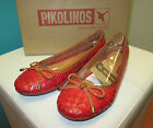 PIKOLINOS Pisa Ballet Flats Carmin Red Leather Shoes 937-7389