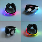 ABS LED Luminous Shoe Clip Light Night Safety Sport Running Cycling Warning