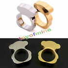 Size 6/7/8/9 Stainless Steel Ring Gold/Silver Band Women's Fashion Jewelry