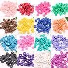 Lot 150/300PCS Solid Fimo Roundle Beads Loose Spacer Round Wafer Beads 17 Colors