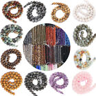 Natural Gemstone Round Spacer Loose Beads 4/6/8/10/12mm Fit Bracelet Necklace