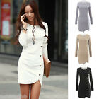 Fashion Women Bandage Slim Fit Long Sleeve Bodycon Party Cocktail Sweater Dress