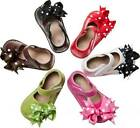 Внешний вид - Leather Squeaky Shoes with Clip On Bows Baby Toddler Size 1 2 3 4 5 6 7 RUNS BIG