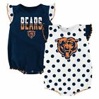 NWT NFL Chicago Bears Infant Girl's 2-Pack Polka Dot Creepers:18 & 24 months
