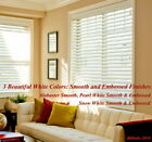 "2"" FAUXWOOD BLINDS 46"" WIDE x 37"" to 48"" LENGTHS - 3 GREAT WHITE COLORS!"