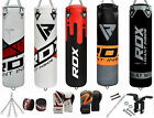 RDX Boxing 8pc Punch Bag Set Filled Heavy Duty Kick Boxing Martial Art MMA Pads