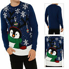 Threadbare Adults Peeping Penguin Christmas Jumpers Novelty Knitted Pull Over