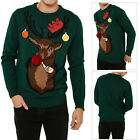 Threadbare Adults Party Pooper Christmas Jumpers Novelty Xmas Knitted Pull Over