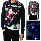 Threadbare Adults Iceland LED Light Up 3D Christmas Jumpers Novelty Sweater Top
